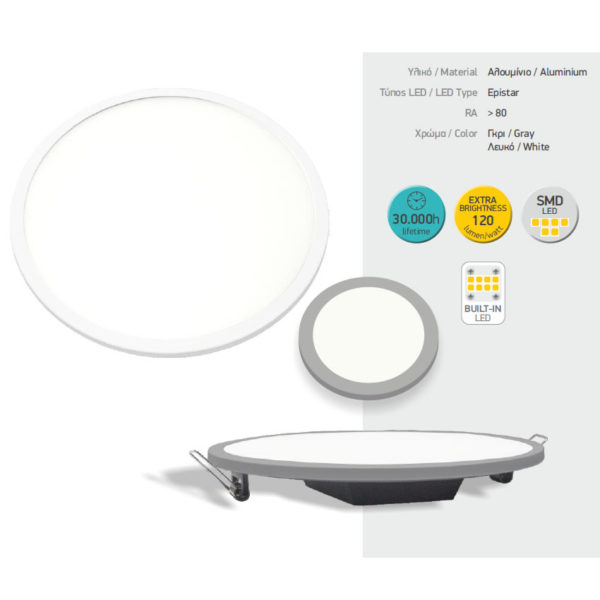 Χωνευτά LED Οροφής - 30W SMD
