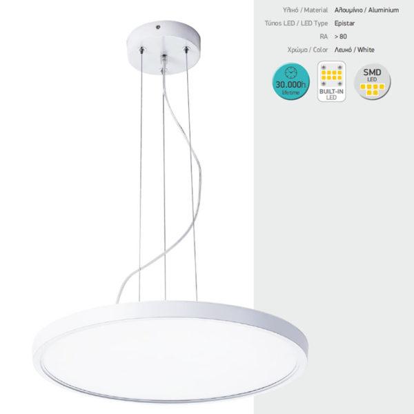 Κρεμαστό Φωτιστικό LED 40W SMD