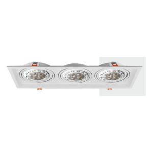 Spot Χωνευτό Οροφής LED GU10 Socket 2x16-2x50W Μεταλλικό AR111
