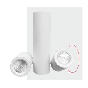 Spot Οροφής LED GU10 Socket 2x7-2x35W
