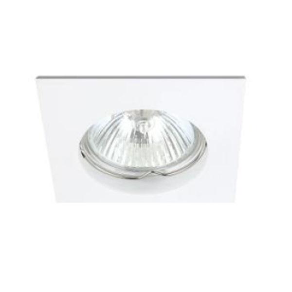 Spot Οροφής LED GU10 Socket 7-35W Λευκό Τετράγωνο