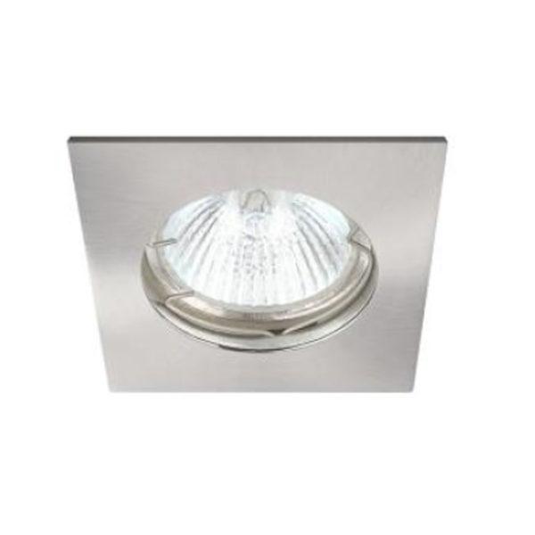 Spot Οροφής LED GU10 Socket 7-35W Νίκελ Τετράγωνο
