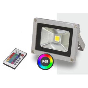 Προβολέας LED Χρώματος Δέσμης RGB 10W SMD με Remote Control