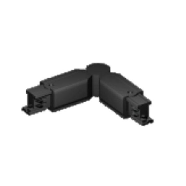 Σύνδεσμος Γωνία για Ράγα Spot LED Μαύρη (Δεξιά/Αριστερή)