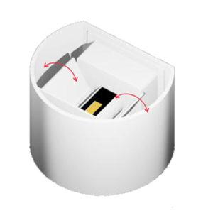 Απλίκα LED Κύβος Εξωτερικού Χώρου 2X3W COB
