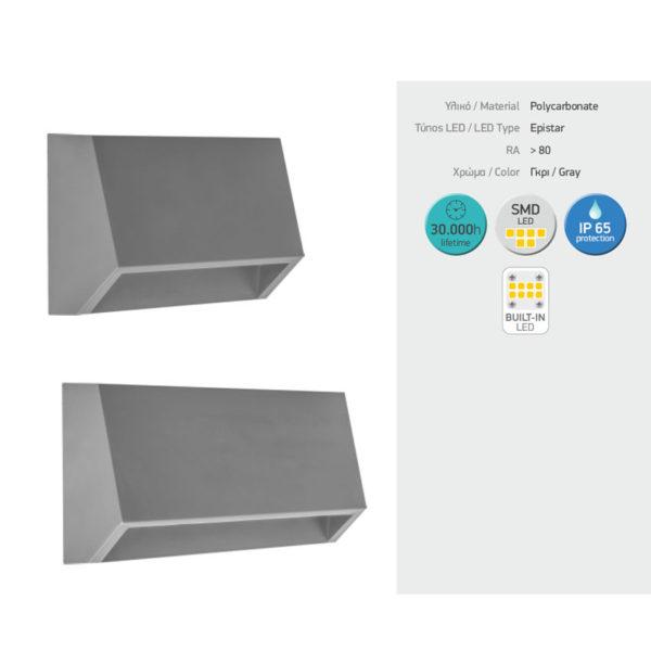 Απλίκα LED Χοάνη Εξωτερικού Χώρου 1.5W SMD