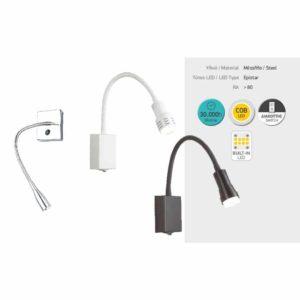 Απλίκα Εύκαμπτη LED Chrome 3W COB ON/OFF