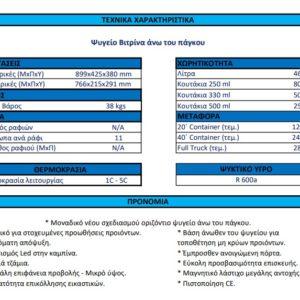 Ψυγείο Βιτρίνα Πάγκου BAR 45