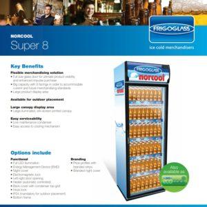 Ψυγείο Βιτρίνα με 1 Πόρτα Frigostar Super 8